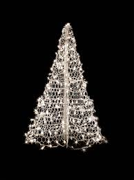 amazon com 4 u0027 white wire crab pot christmas tree with 300 clear