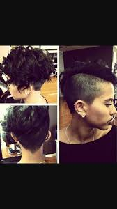 shaved sides pixie curly faux hawk cool herrs pinterest