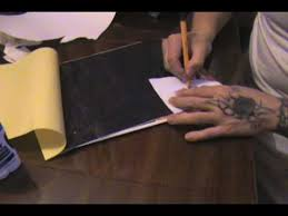 How To Make Carbon Paper At Home - design transfer 2