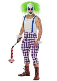 scary clown costumes men s nightmare clown costume