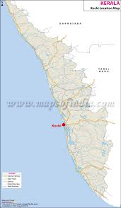 India Weather Map by Kochi Location Map Where Is Kochi