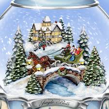 amazon com thomas kinkade jingle bells christmas musical