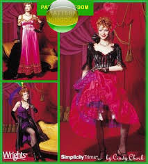 Dancer Halloween Costume Simplicity 9899 Mardi Gras Moulin Rouge Saloon Patterns