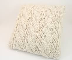Sofa Pillows Covers by Cable Knit Throw Pillow Cover Crochet And Knit
