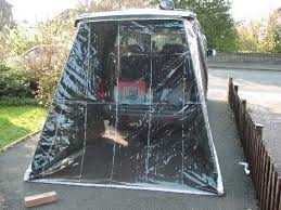 Bongo Awning Awning And Clear End Piece Outside View From Rear Photo By
