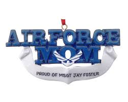 air force mom personalized ornament