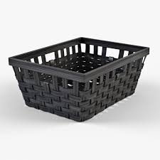 wicker basket ikea knarra 1 black color by markelos 3docean