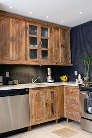 Wood Kitchen Cabinets Reclaimed Wood Cabinets For Kitchen Roselawnlutheran