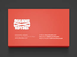 back business card deluxe royale business card back by desmond arsan dribbble