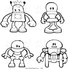 100 robot coloring pages cattpix