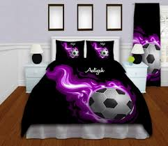 Bed Linen For Girls - soccer bedding personalized soccer duvet cover sports bedding