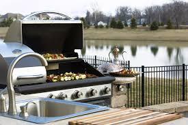 staggering plans for an outdoor kitchen floor kitchens bbq design