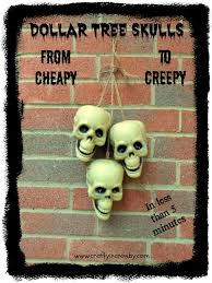 crafty in crosby take dollar tree skulls from cheapy to creepy in