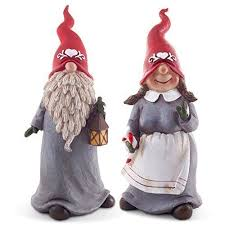 dennis doris the set of two 26cm gnome ornaments the