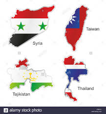 World Map Syria by Asia Thailand Flag Syria Taiwan Map Atlas Map Of The World