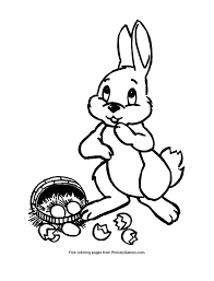 easter coloring cute bunny primarygames play free