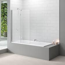 bath screens uk designer bathroom concepts merlyn designer 2 panel folding bath screen