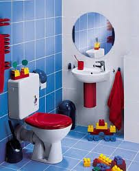 stunning creative design for kids bathroom ideas with red white
