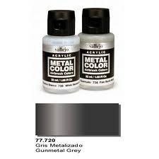 vallejo metal color gunmetal grey 32ml val 77720 acrylic