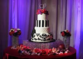 Red Cake Plate Pedestal Wedding Cake Displays Sparkling Crystal Cake Stands Inside Weddings