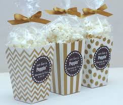 popcorn favors 12 custom popcorn box favors wedding favors personalized boxes