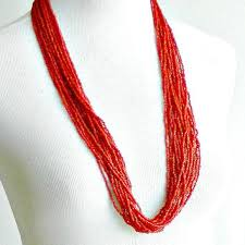 beaded coral necklace images Best vintage coral bead necklace products on wanelo jpg