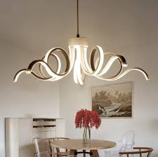 Led Dining Room Lights Restaurant Chandeliers Led Creative Personality Dining Room Simple