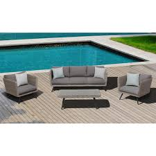 Steel Patio Furniture Sets by Ove Decors Danforth 4 Piece Steel Patio Conversation Set With Gray