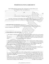 Event Planner Sample Resume Wedding Contract Template