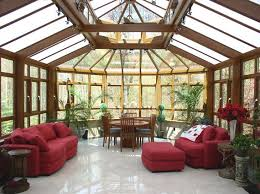 Sunroom Sofa Marvellous Building A Sunroom Red Sofa Red Sofa Stool Brown Wooden
