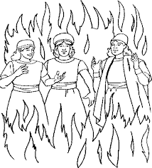 shadrach meshach and abednego free coloring pages on art