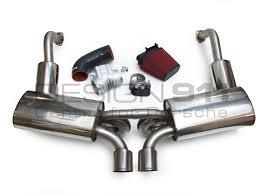 porsche boxster 987 exhaust exhaust package plenum 82mm throttle induction kit
