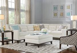 livingroom pc picture of reina white leather 4 pc sectional from leather living
