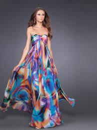 multi color wedding dress multi color print chiffon strapless sweetheart neckline sleeveless