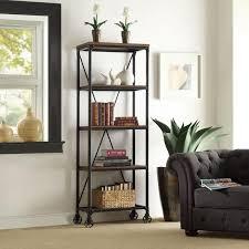 Distressed Black Bookcase Distressed White Bookshelf Mission Bay 6 Shelf Bookcase Oak Hill