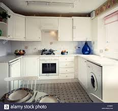 modern fitted kitchens fitted kitchen in a modern british house stock photo royalty free