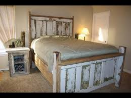 exquisite reclaimed wood bed frame design ideas youtube