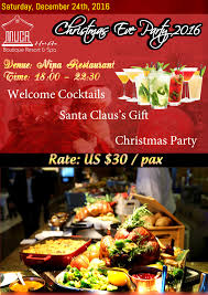 christmas eve party 2016 muca hoi an boutique resort u0026 spa