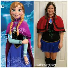 Anna Frozen Costume Road Runner Rundisney Costumes Revealed