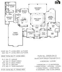 4 bedroom house plans one story with basement 5 bedroom house