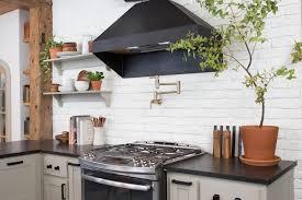 brick backsplashes for kitchens black and white kitchen eclectic abcd design with brick backsplash