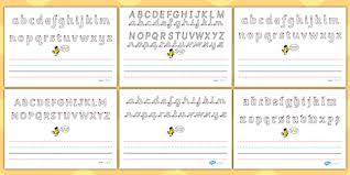 name writing worksheet write name line guide landscape