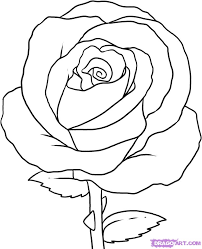 coloring pages luxury simple roses to draw easy drawings of