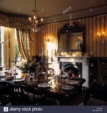interiors traditional diningroom chandelier stock photos