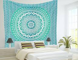 amazon com rawyalcrafts green ombre tapestry indian hippie