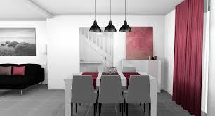 Cuisine Gris Blanc by Indogate Com Cuisine Moderne Rouge