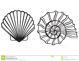 seashell silhouette clipart panda free clipart images