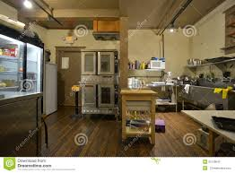 industrial coffee shop bakery and kitchen editorial stock image