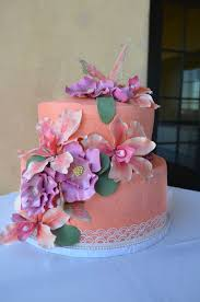 and orchids bridal shower cake
