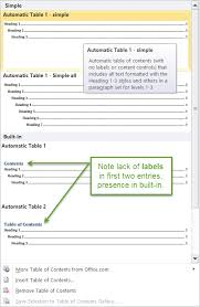 header templates for word 2010tableofcontentsgallerysimple png
